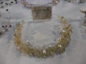 Collier quartz rutile et perles d'eau douce Astre et Minéral Lille