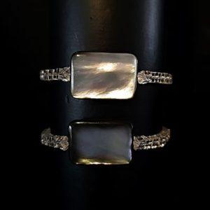 Nacre cristal de roche - hematite Bracelets confection Astre et Minéral