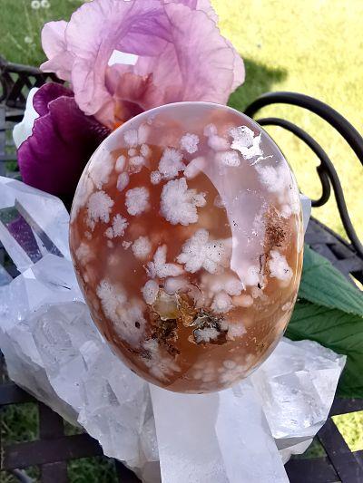 Agate fleurs pierre naturelle