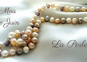 Perle d'eau douce collier