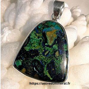 Azurite malachite pendentif