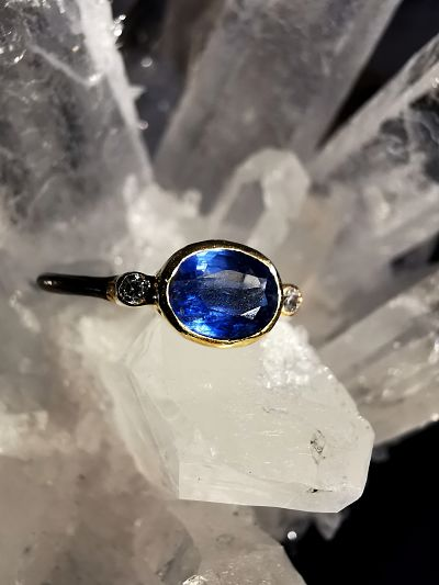 Cyanite bague