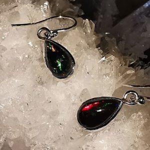 Opales noires Ethiopie pendentifs