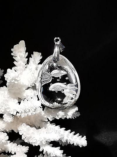 Lodolite gravée pendentif quartz chamane