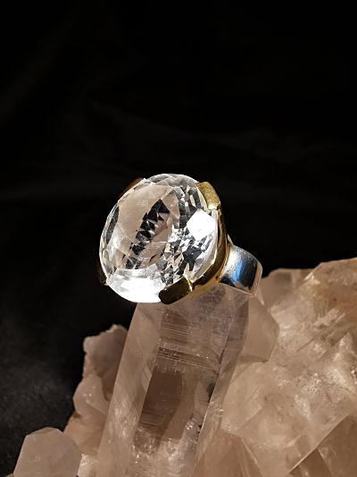 Cristal de roche - bague