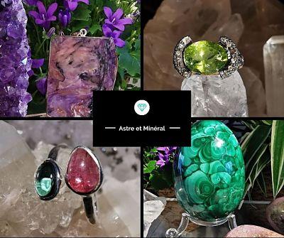 Minéraux - géodes- bijoux en pierres naturelles - fossiles - Astre et Minéral