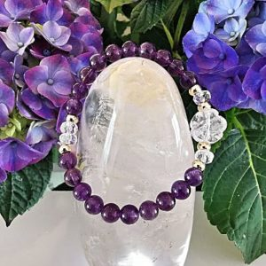 Améthyste et cristal de roche bracelet création