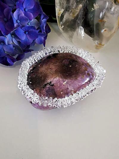 Cristal de roche bracelet création