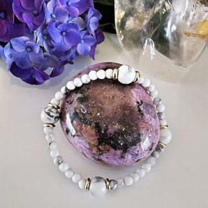 Howlite bracelet création