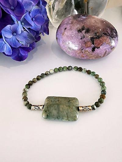 Opale verte bracelet création