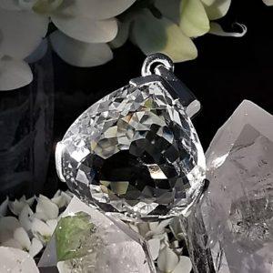 Cristal de roche pendentif argent 925